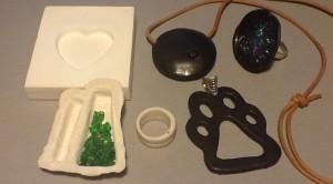 Smycken eller gjutformar i porslin